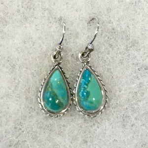 BARSE Turquoise Sterling Silver Drop Earrings